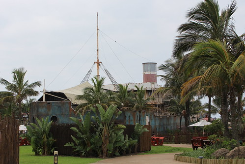 uSharka acquarium housed in old ship