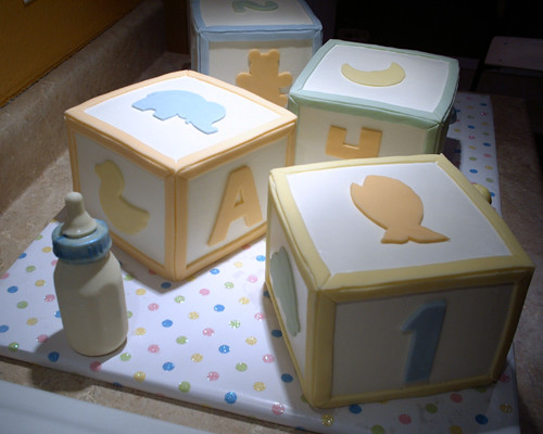 Baby Block Cake Images : baby blocks cakes Flickr - Photo Sharing!
