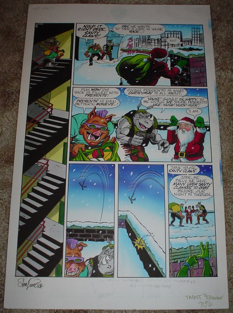 """Twas the Night Before Christmas"""" Page 2 - Original Art 