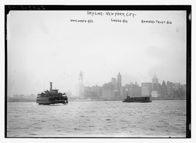 Skyline - N.Y.C.: Woolworth Bldg., Singer Bldg., Bankers Trust Bldg.  (LOC)