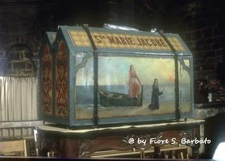 Saintes-Maries-de-la-Mer [F], 2000, Le arche contenenti le reliquie delle due Marie.