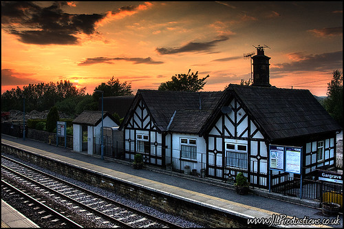 Gargrave Station, Sunset (152-366)