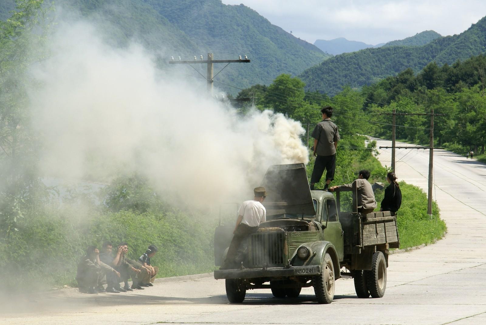 Woodgas-powered veteran lorry