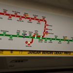 MRT Map With Indicator Light