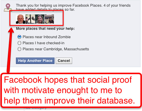 Facebook hopes social proof with motivate users to clean their database