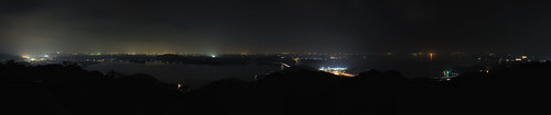 panorama japan lowlight nightphoto lighttrail lightstream shizuokapref hamamatsucity afsnikkor2470mmf28g 奥浜名湖展望公園