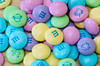 Pastel colored Easter M&Ms