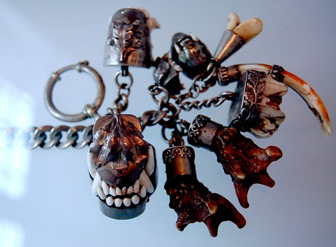 Chain of Austrian Hunting Charms - Fangs, Hooves and Horn