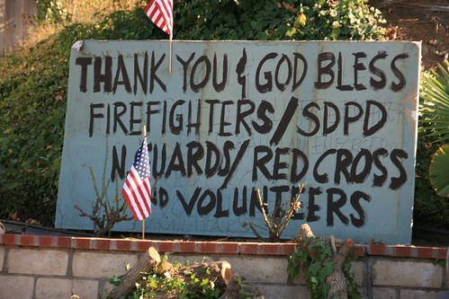 Thank you note to the firefighters of San Diego