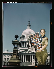 United Nations Fight for Freedom: Boy Scout in front of Capitol. They help out by delivering posters to help the war effort  (LOC)