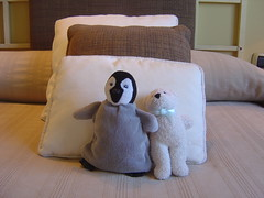textile(1.0), furniture(1.0), linens(1.0), bed sheet(1.0), pillow(1.0), plush(1.0), stuffed toy(1.0), toy(1.0),