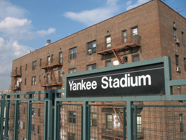 70 East 162nd Street, Bronx, NY - when this photo was taken (5/17/06) these windows looked upon a park, but now they face Yankee Stadium's monolithic right field exterior wall