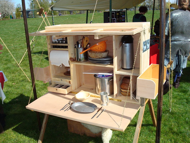 Camper Kitchen Table Set With Storage