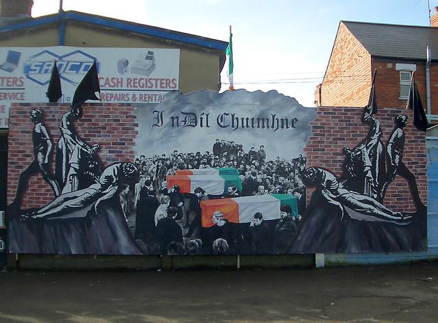 Hungerstreik Wandbild Belfast Ira Gibraltar Three Mural