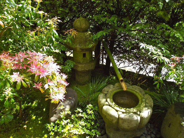 Tea garden pagoda and water basin flickr photo sharing - Japanese garden water basin ...
