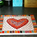 heart pot stand mosaic