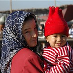 Uighur Mother and Child - Kashgar, China
