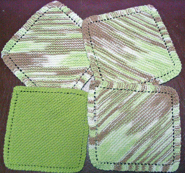 Knitting Pattern Dishcloth Knitted Diagonal : Knit Dishcloths Flickr - Photo Sharing!
