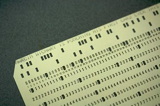 My first punched card
