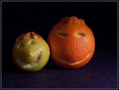 Smiling citrus couple