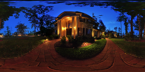 panorama house home night outdoors florida hdr 360x180 360° eagleharbor sigma1020mm hugin equirectangular flemingisland conformal landscapelighting enfuse