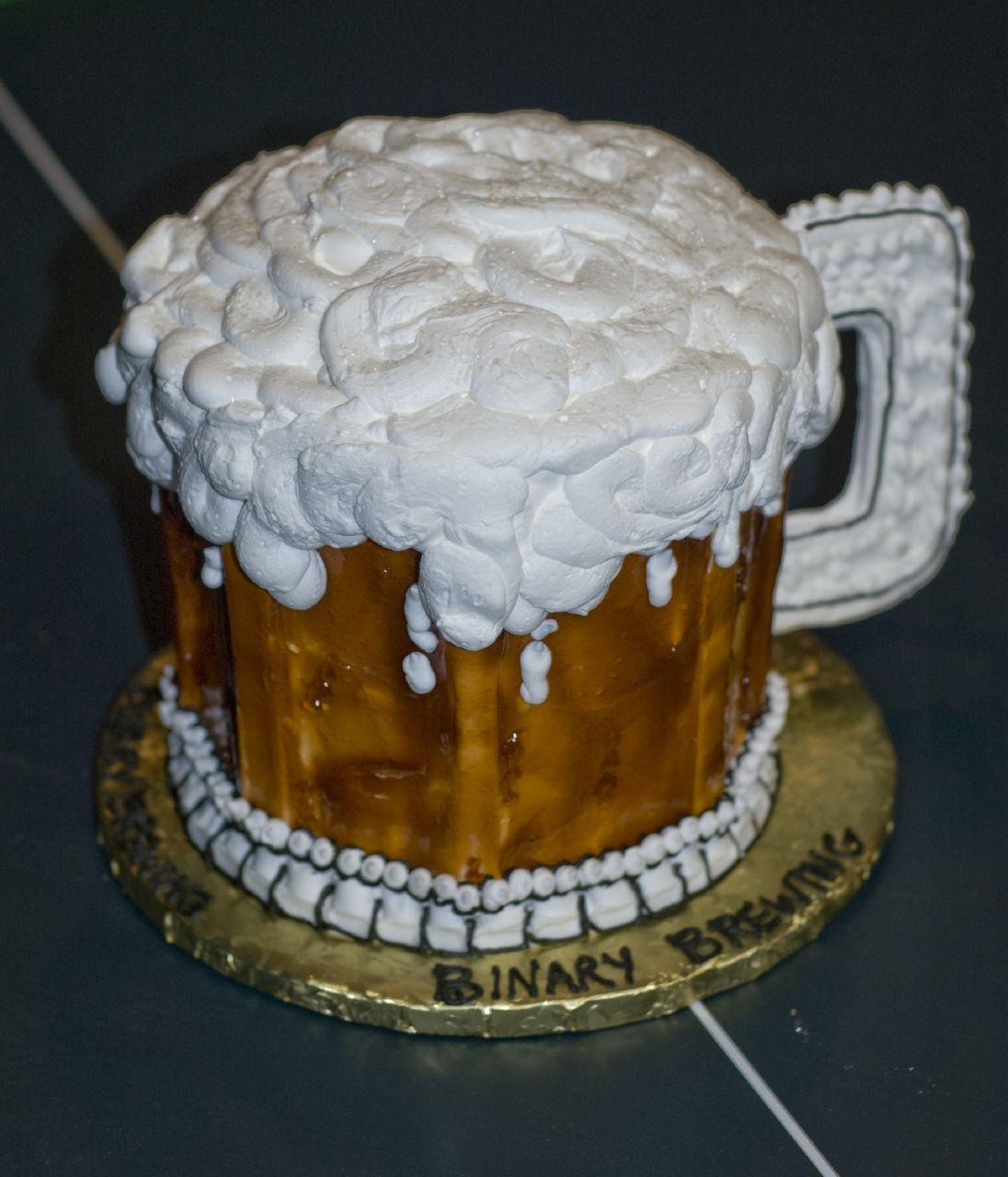 A Cake Shaped Like A Beer