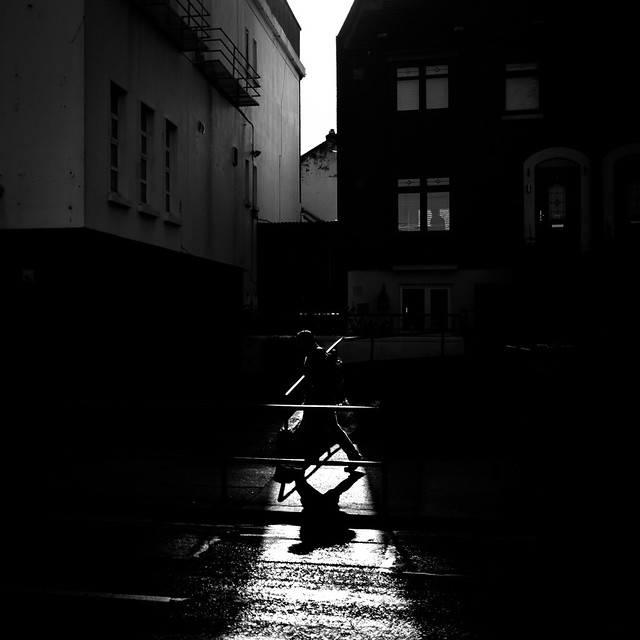 The shadow - Dublin, Ireland - Black and white street photography
