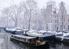 By boat along the white world of Amsterdam