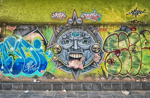 Wall art, Puebla, Mexico