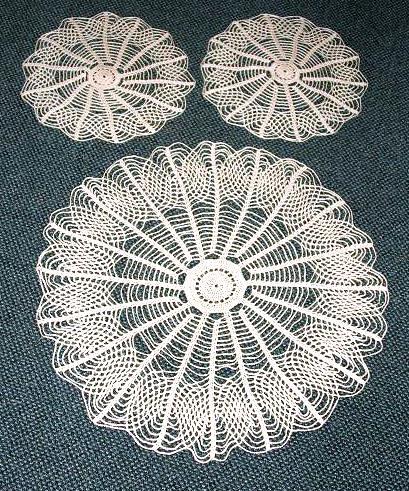 3 pc. Vintage Style Round Doily Set