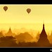 Myanmar - Balloons Flying over Mystical Bagan during Wonderful Sunrise by © Lucie Debelkova / www.luciedebelkova.com