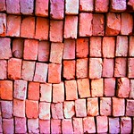 India on the road, bricks, revisiting the caste system, New Delhi, 2001