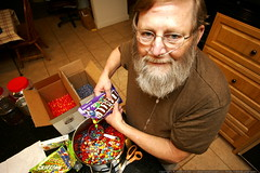 mixing diabetic's delight   jellybeans, skittles, ca…