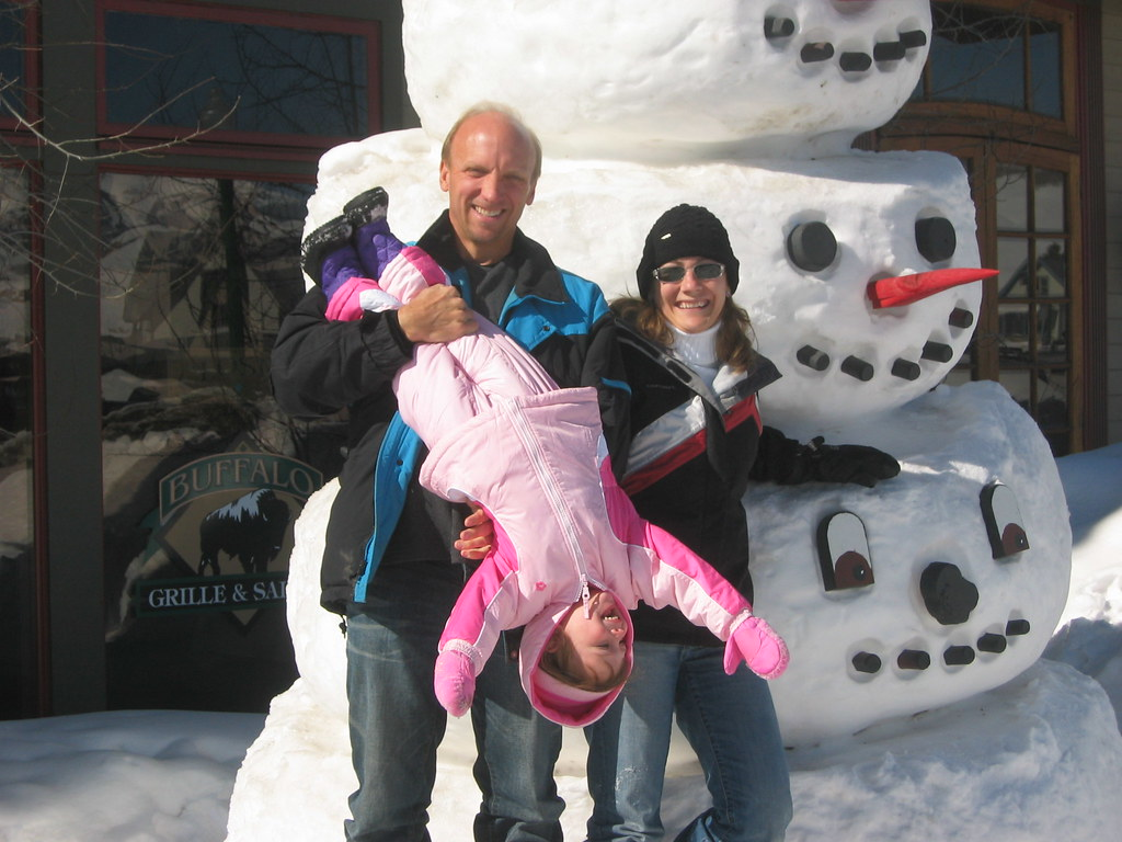 Giant snowman near the 4 way stop, Crested Butte