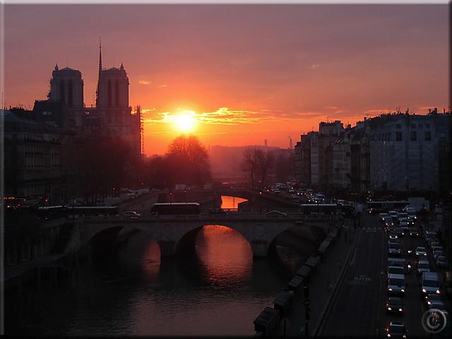 Paris Sunrise over the Seine