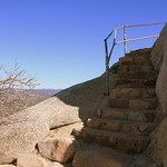Stairs near the top of Stonewall Peak.  Cuyamaca Rancho State Park