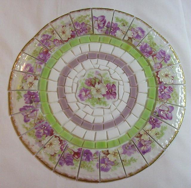 Shabby Chic Violet China Mosaic Tile Set Flickr Photo
