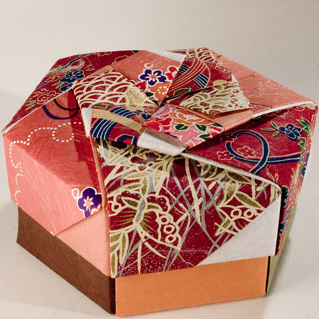 Small Decorative Gift Boxes With Lids: Decorative Hexagonal Origami Gift Box With Lid: # 10
