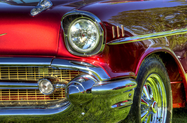 57Bel Air Red -HDR