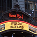 Welcome Race Fans at the Hard Rock