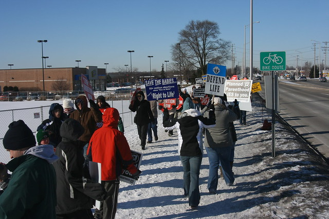 2008-02-16 Monthly Protest at Planned Parenthood