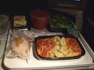 UA United In-flight Meal ORD-CDG