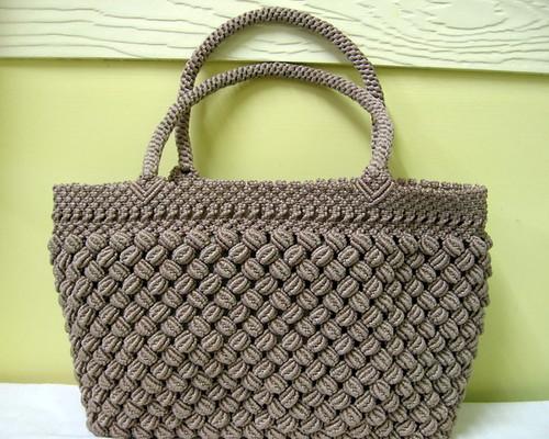 Vintage Chocolate Macrame Handbag Flickr Photo Sharing