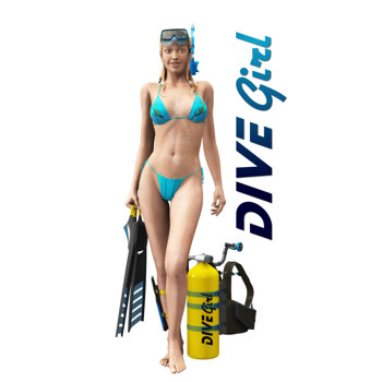 The Scuba diving sexy women