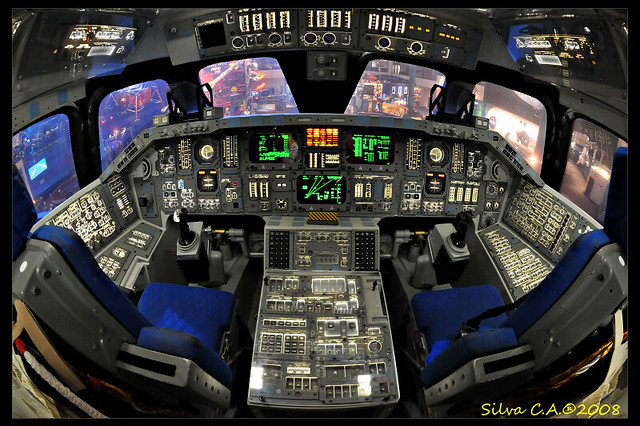 space shuttle reentry cockpit view - photo #17
