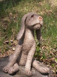 Dog!  Felt Alive Needle Felted Wool Sculpture