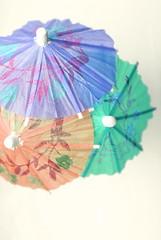 umbrella, flower, aqua, turquoise, pink, petal,
