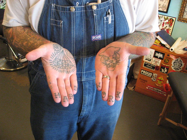 Palm and Finger Tattoos -