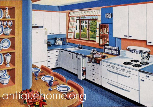 Forget Me Not Blue Kitchen Design 1950 39 S Flickr