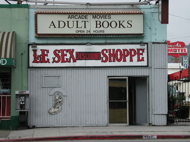 This is Le Sex Shoppe on Hollywood Boulevard in Los Angeles.